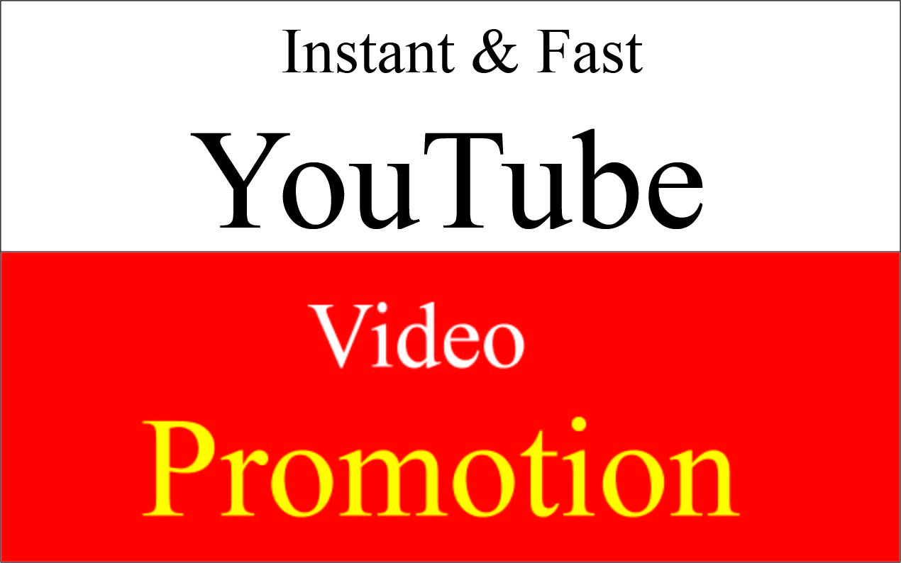 Get super fast Natural YouTube video promotion & marketing