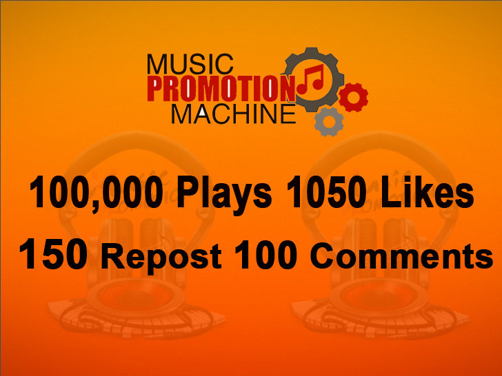 Music Promotion 100,000 Plaays 1050 Lykes 150 Re-post 100 Comments