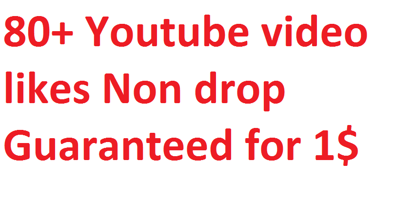 Get 80+ Non drop High Quality Youtube Promotion via Real user