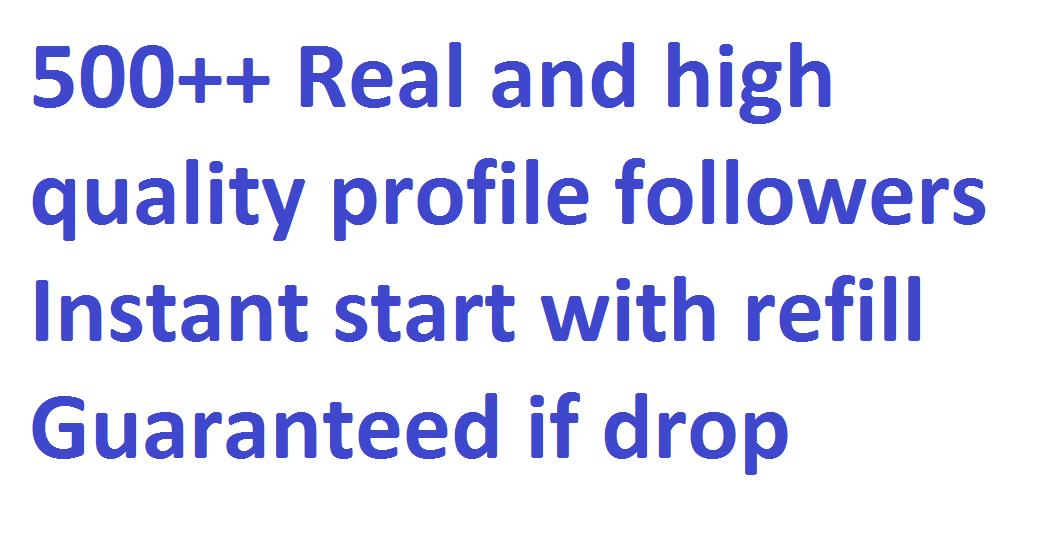 Get 500+ Social media followers via real user with 20 days refill guarantee if Drop