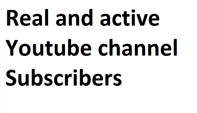 Real and Active YouTube promotion genuine service via real users