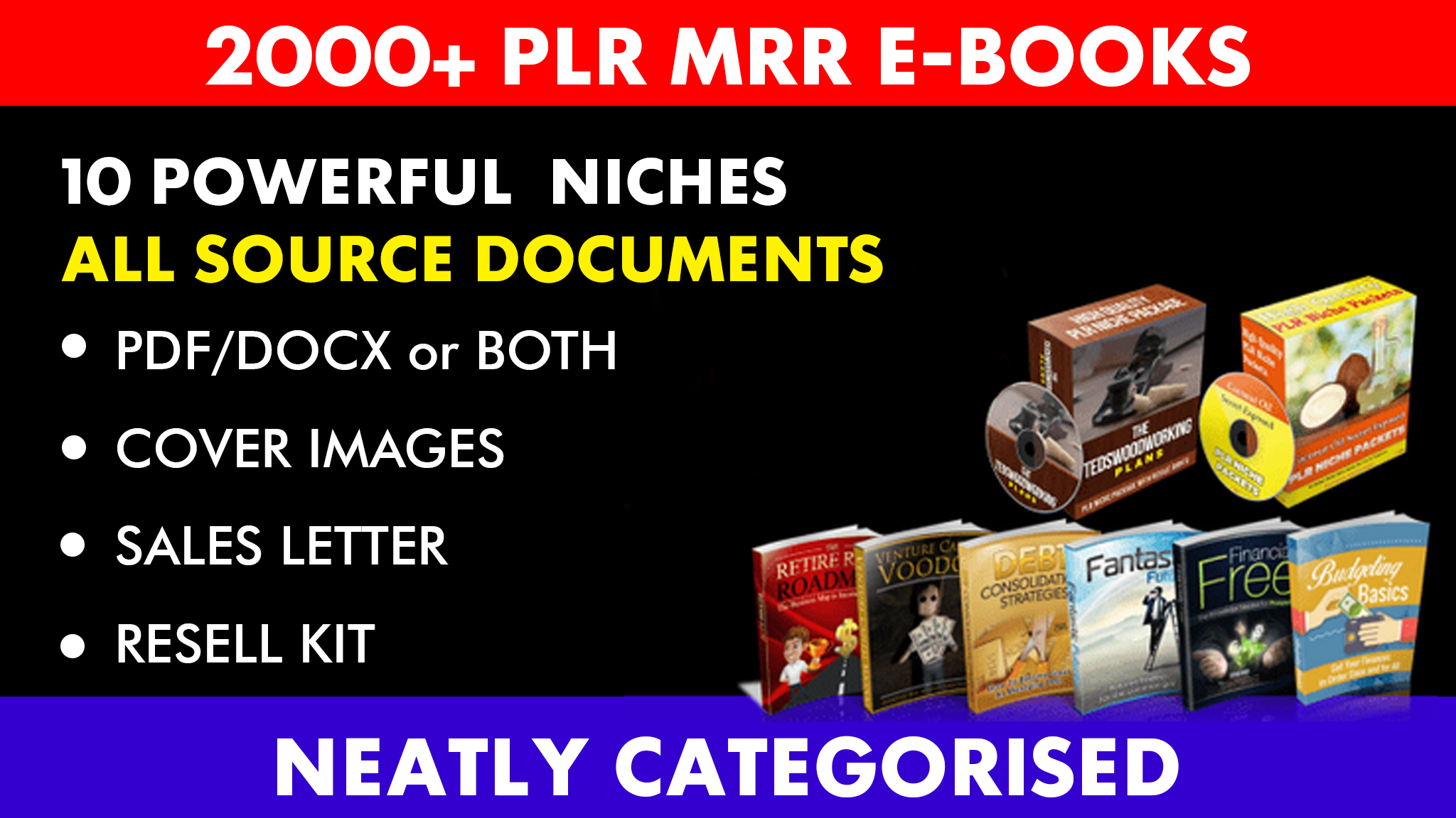 give 2000 rebrandable ebooks articles mrr plr