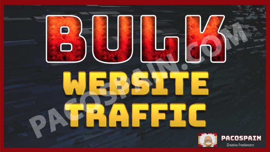 Bulk Website Traffic For 30 Days