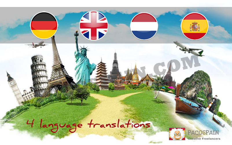 We can translate English,  Dutch,  Spanish or German documents