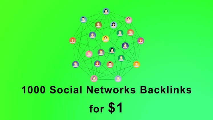 Build 1000 Social Networks SEO backlinks link building service
