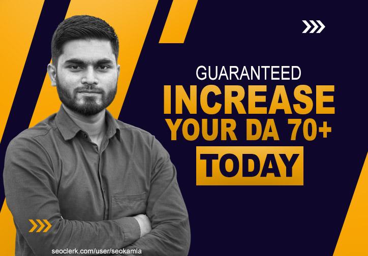 Guaranteed - Increase Your Website's Domain Authority Moz DA 70+