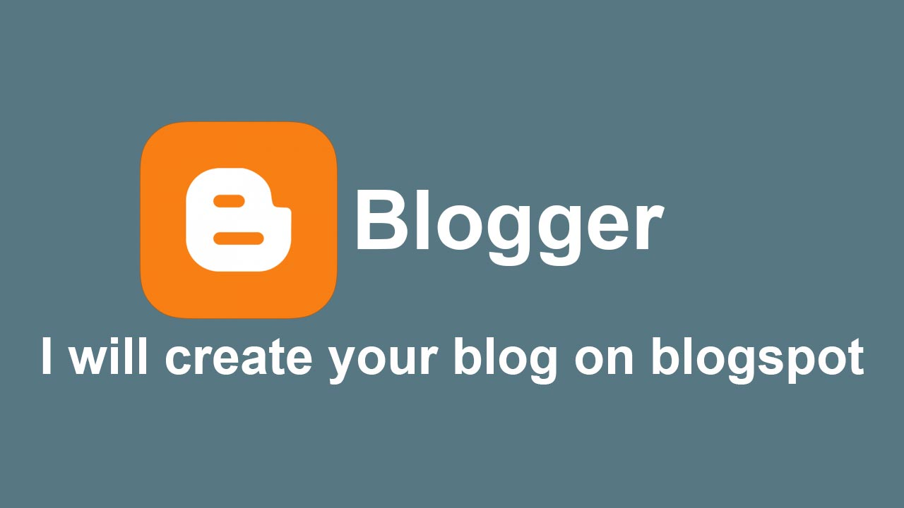 I will create a blog in blogspot for your niche