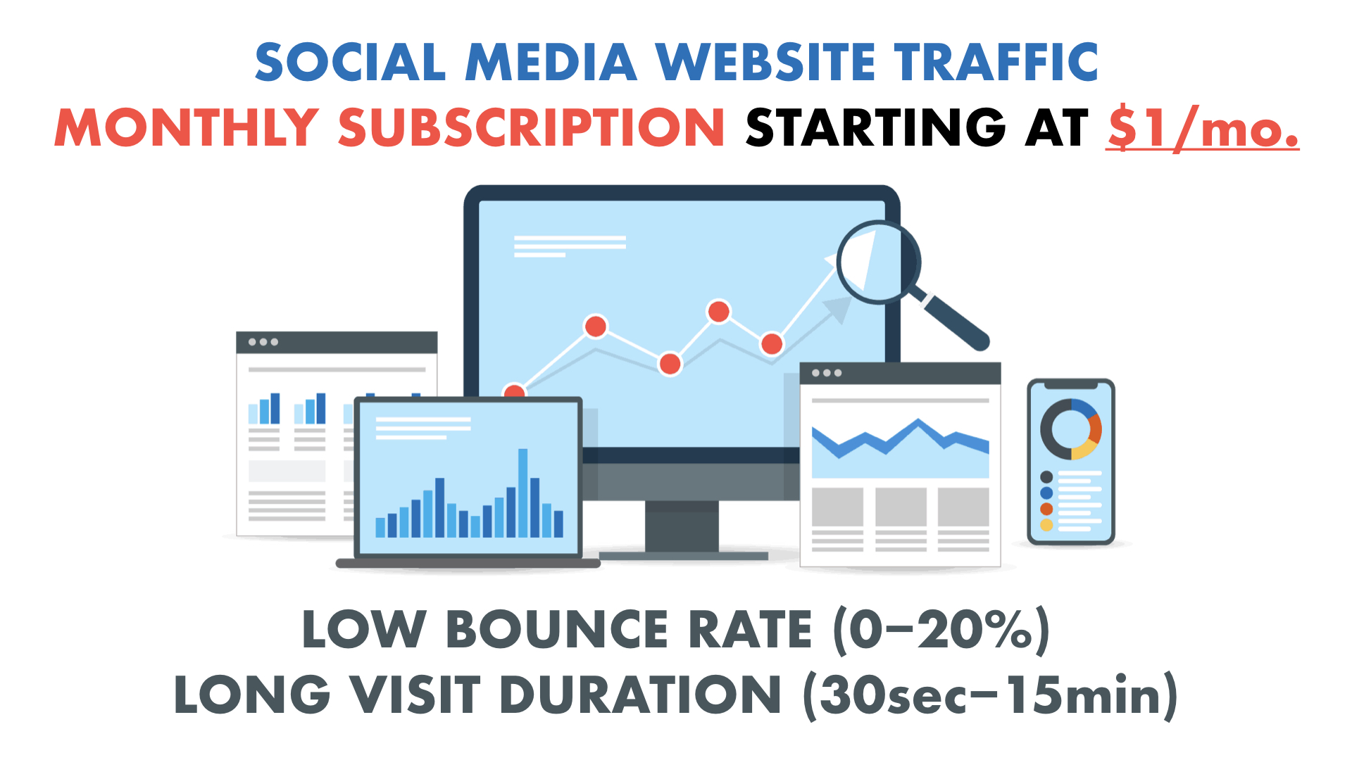 UNLIMITED SOCIAL MEDIA Traffic with Low Bounce rate and Long Visit Duration