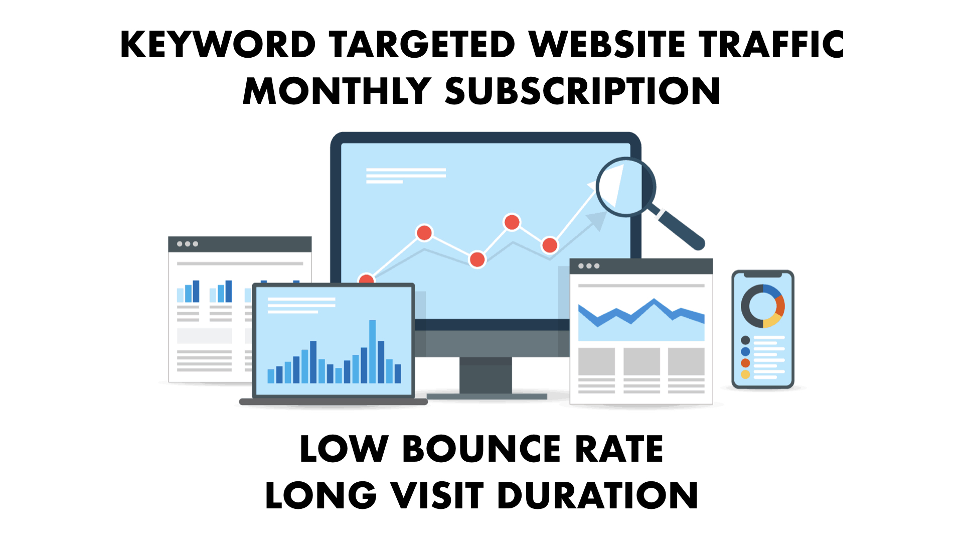UNLIMITED KEYWORD TARGETED Traffic with Low Bounce Rate and Long Visit Duration