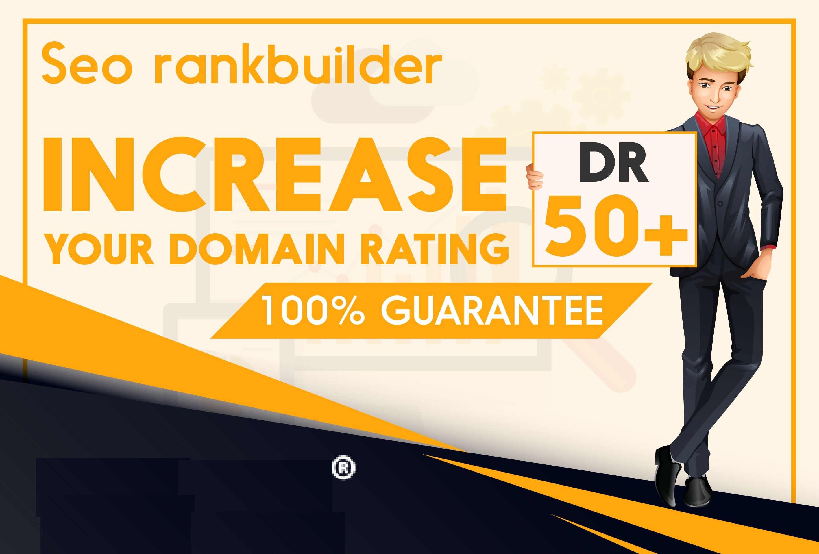 I will increase domain rating DR ahrefs 50 plus in 30 days