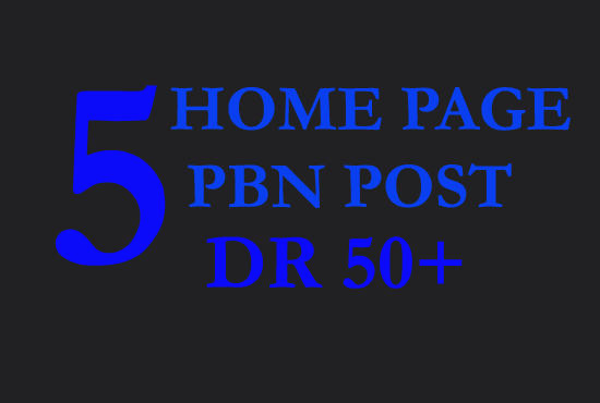 I will create 5 high DR up to 50 plus dofollow pbn backlink