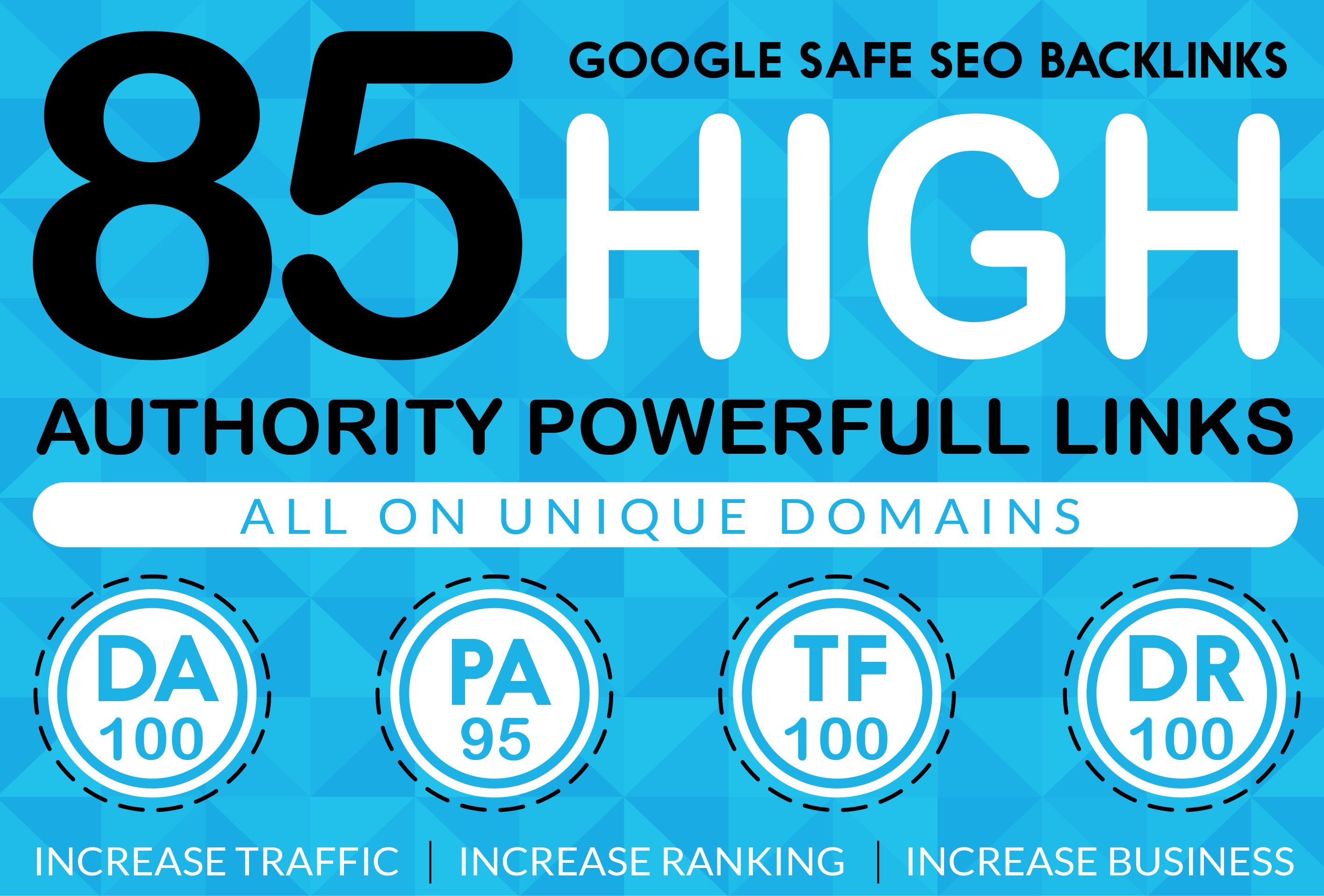 I will manually build 85 DA up to 95 plus profile BACKLINKS