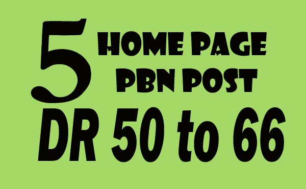 I will make 5 permanent DR 50 to 66 pbn homepage backlinks