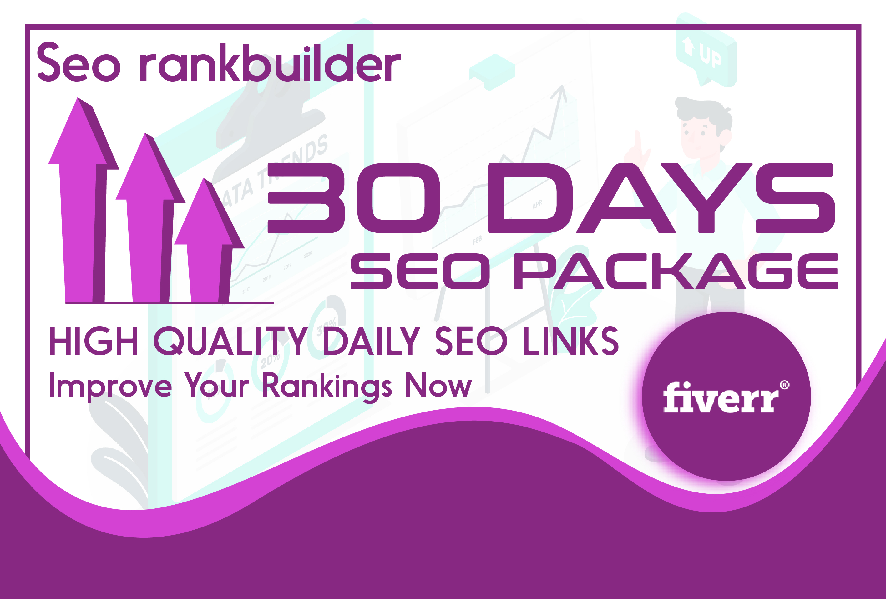 I will do 30 days SEO service,  daily,  fresh backlinks