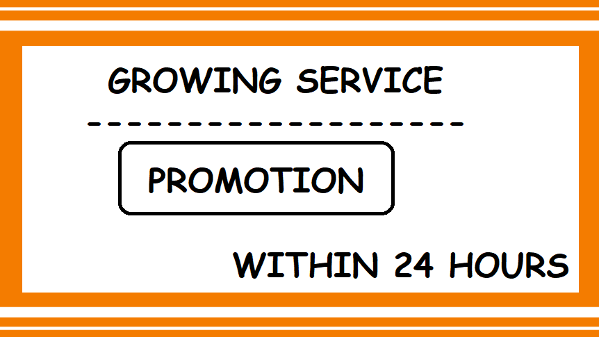 Growing promotion services quality and fast service