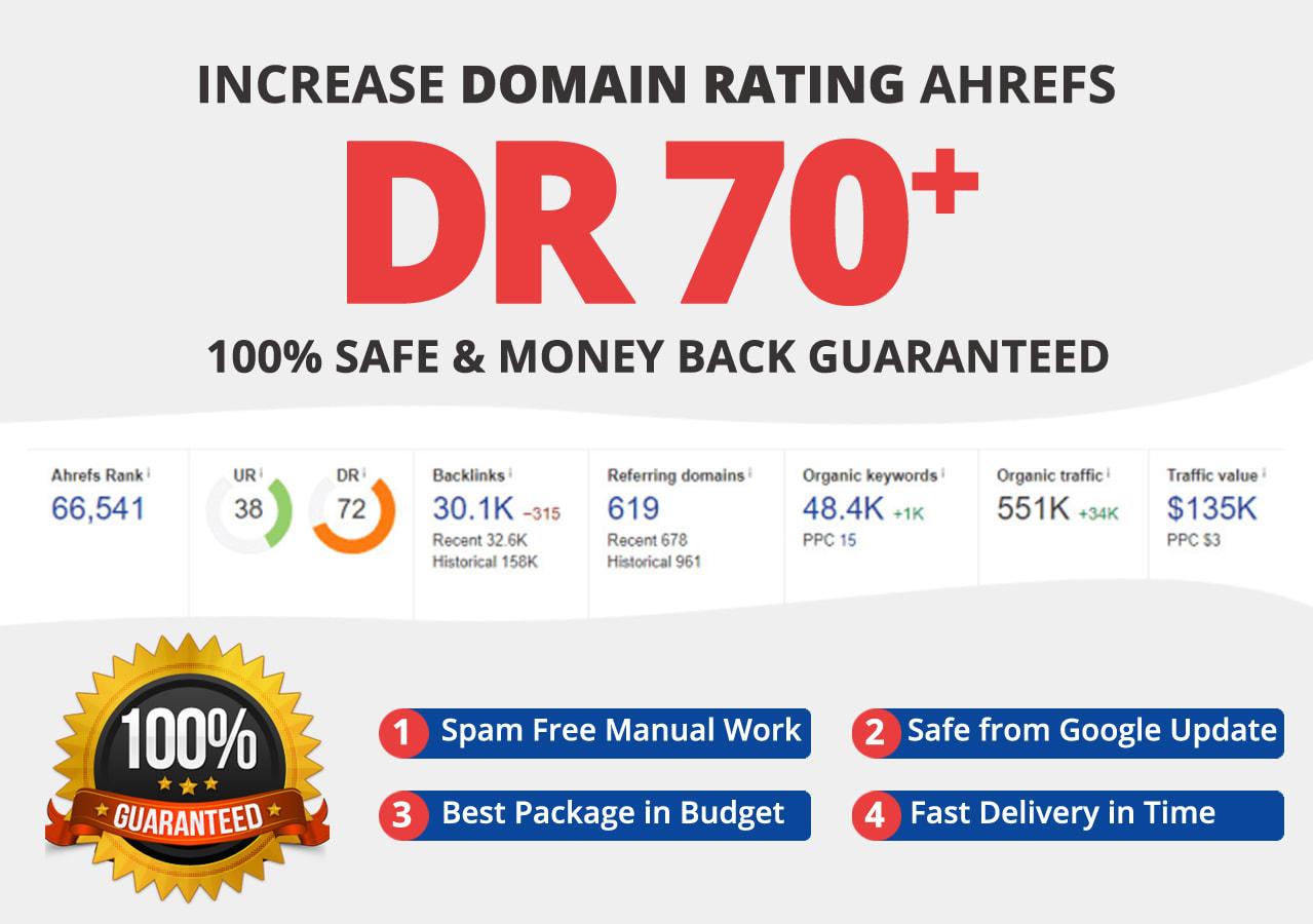 Increase Domain Rating DR 70 plus