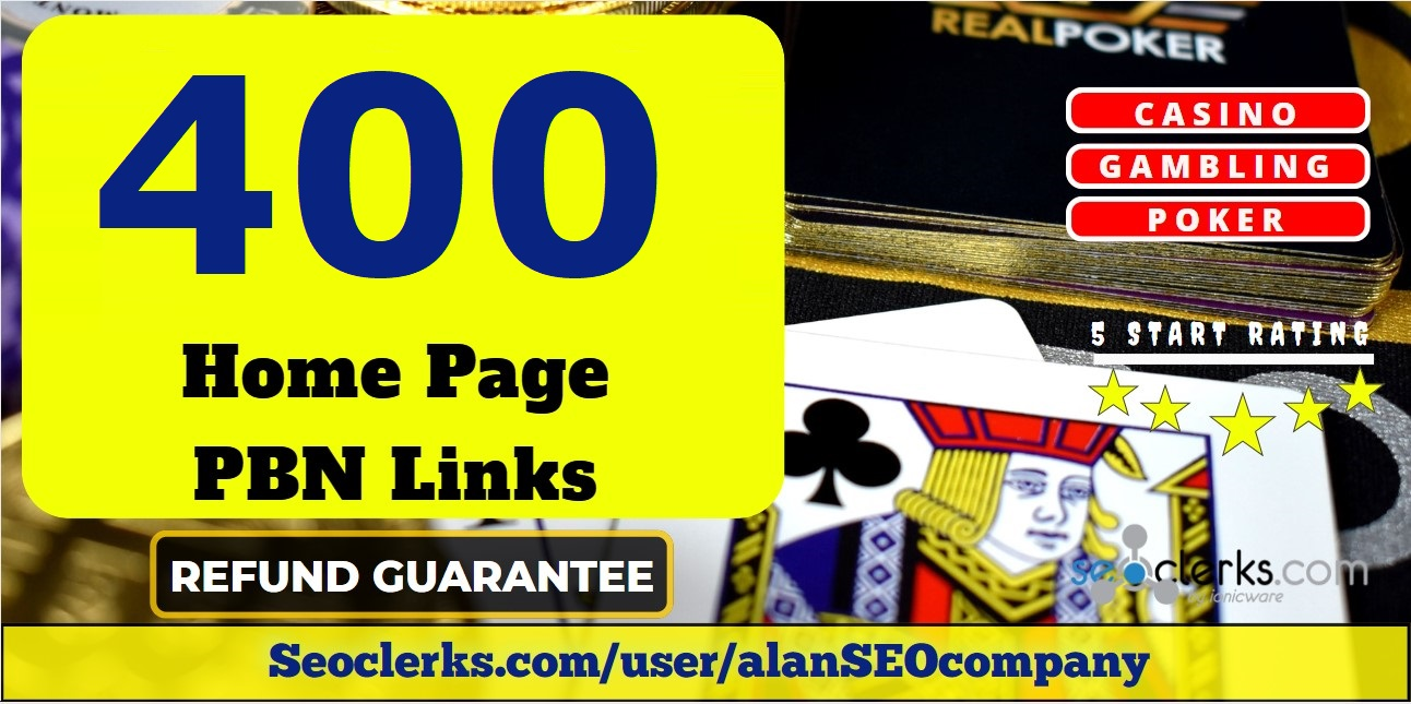 Provide you 400 PBN links from DR 50+ sites