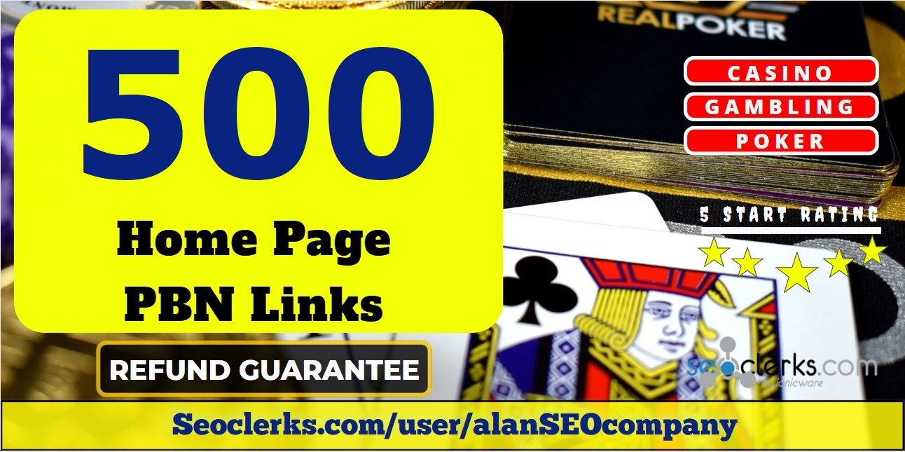 Provide you 500 PBN links from DR 50+ sites