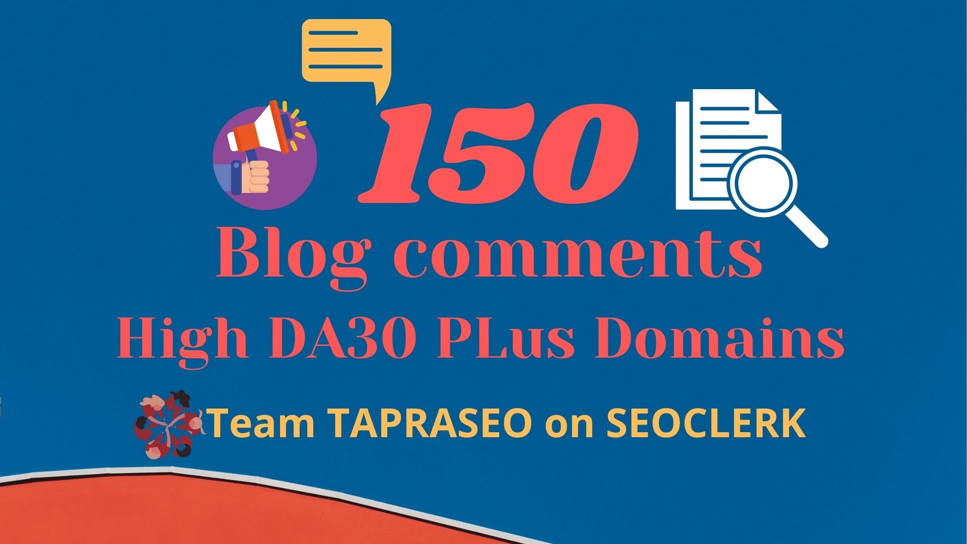 150 Dofollow Blog comment DA30 Plus domains