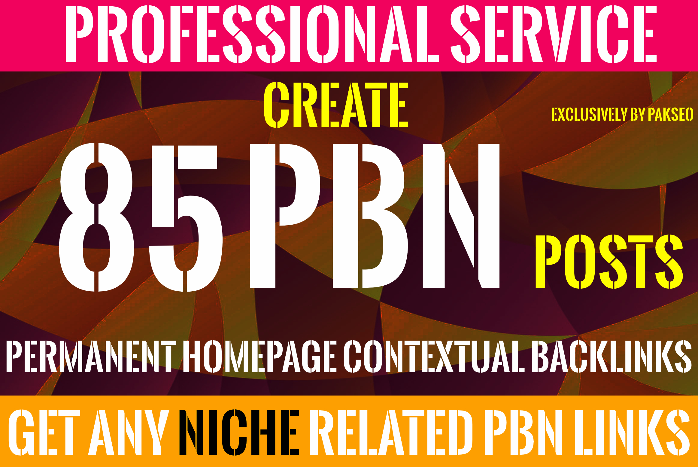 Create 85 PBN Homepage Permanent Contextual Backlinks