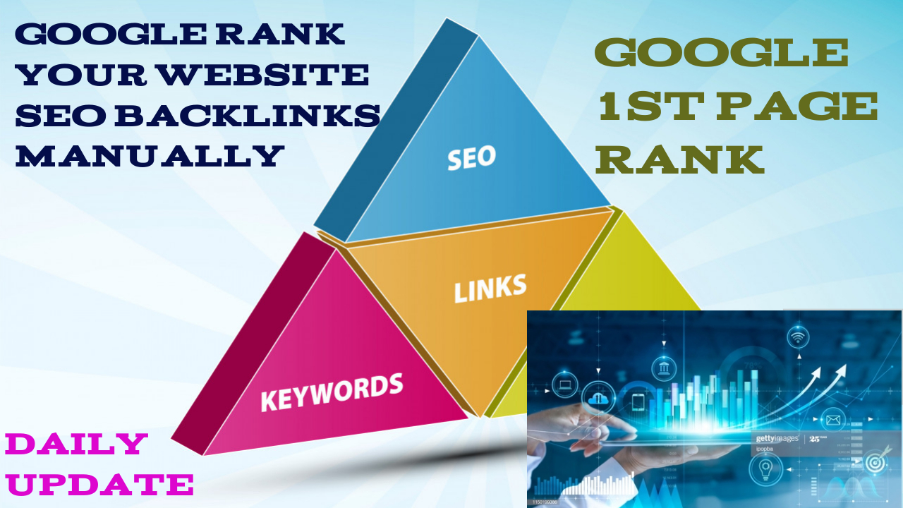 TOP SERVICE GOOGLE 1ST PAGE RANK ON YOUR WEBSITE SEO Backlinks Manually