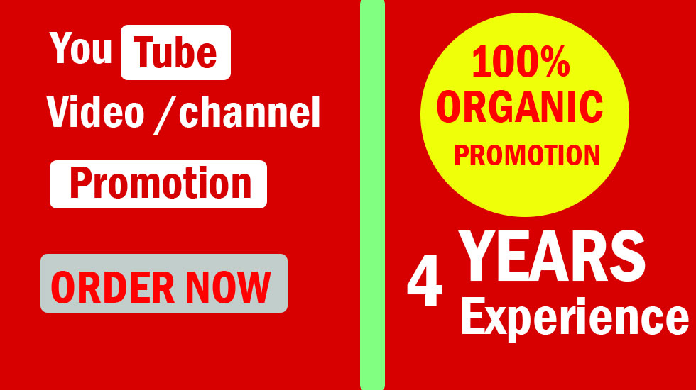 Outstanding Youtube Promotion & Video Promotion Via Social Media Marketing