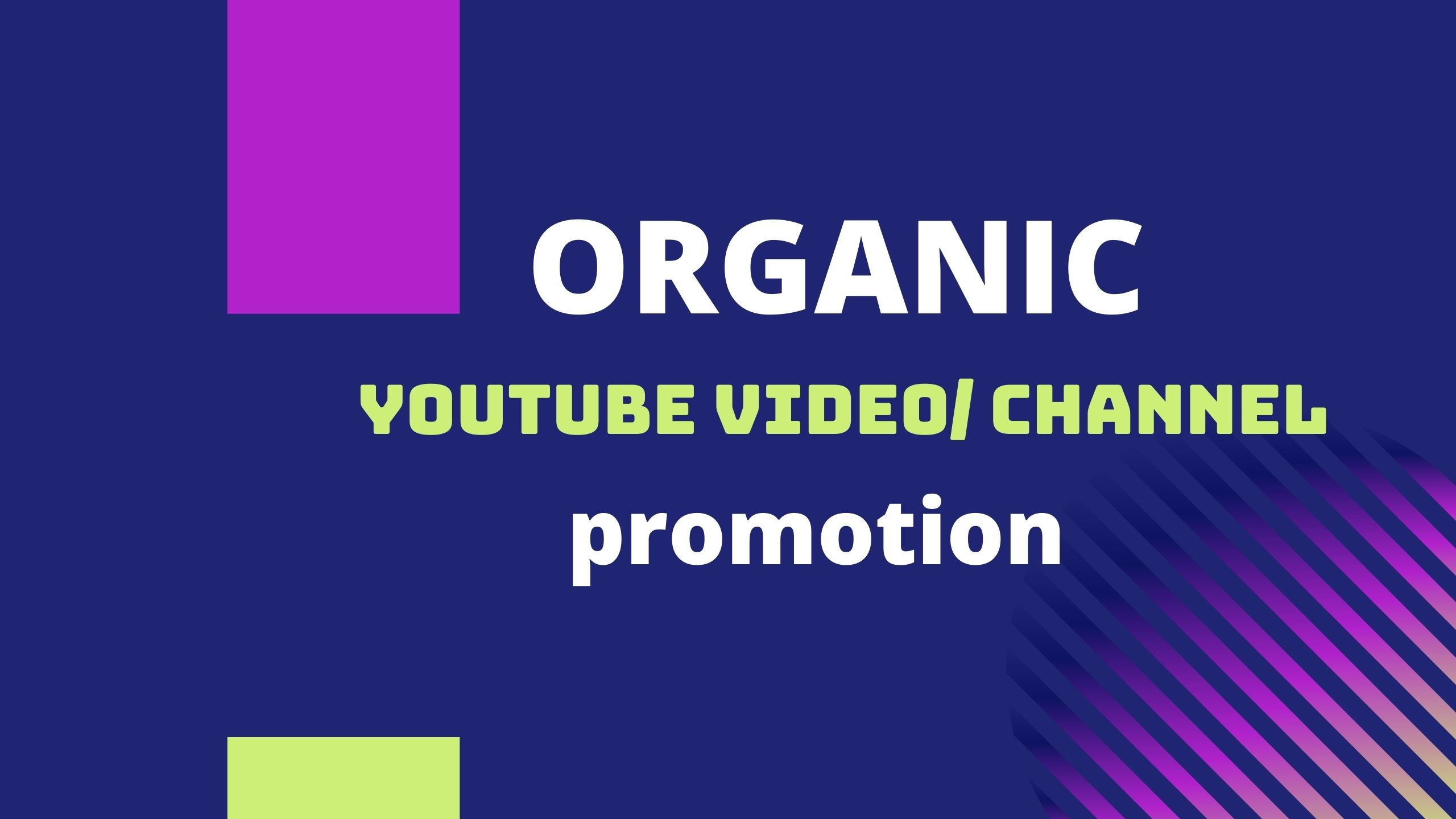 Organic Youtube video promotion and Marketing to grow more Audience