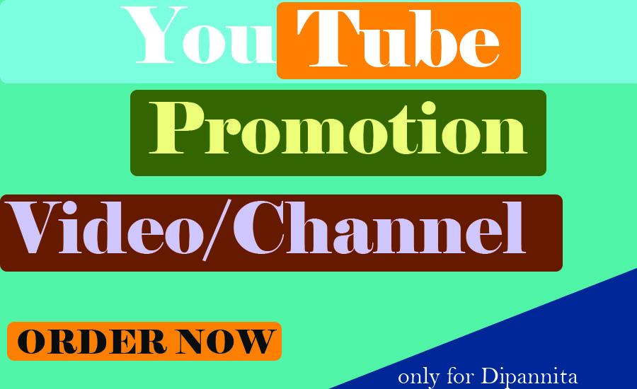 Youtube Promotion High-Quality Fully safe via social media Marketing