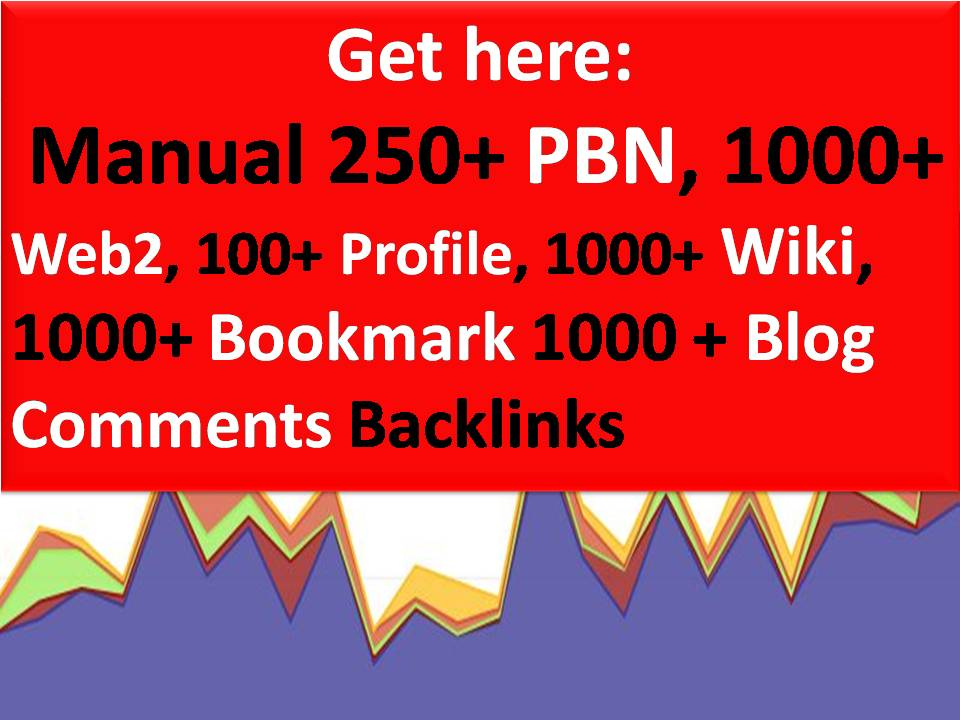 Rank with 250+ PBN,  1000+ Web2,  100+ Profile, 1000+ Wiki,  1000 Bookmark 1000 + Blog Com Backlinks