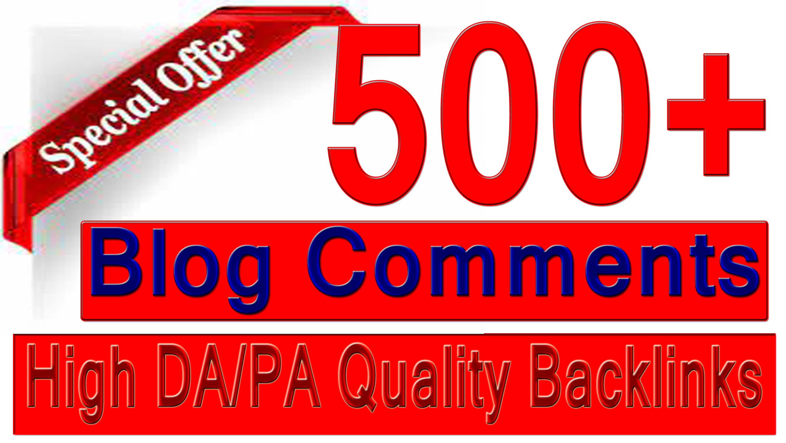 Rank your site with 500+ Blog comments Backlinks