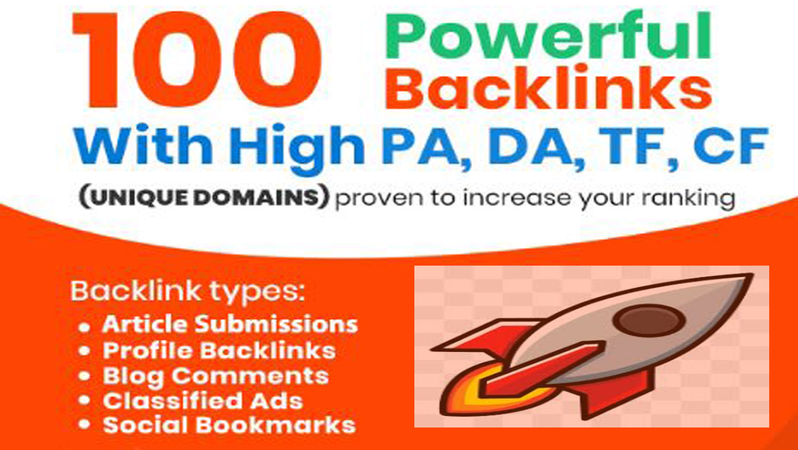 Increase Your Ranking with 100 Plus Unique Domain High Authority Backlinks