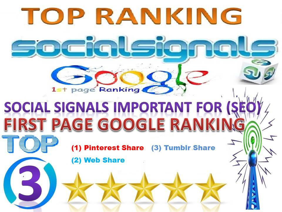 TOP 3 Platform Best Sites 15k Pinterest FB Tumblr Social Signals From Help For Google First Page