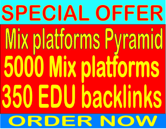 Ranking Mix platforms Pyramid With 5000 Mix platforms from 350 Edu Backlinks