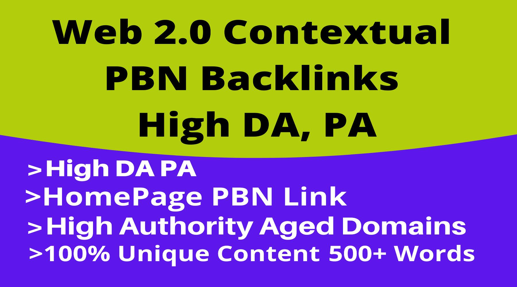 45 Web 2.0 Contextual PBN Backlinks Get Website Ranks Fast