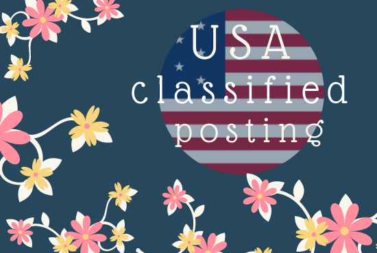 I will Do 50+ Classified Ads Posting Manually in USA