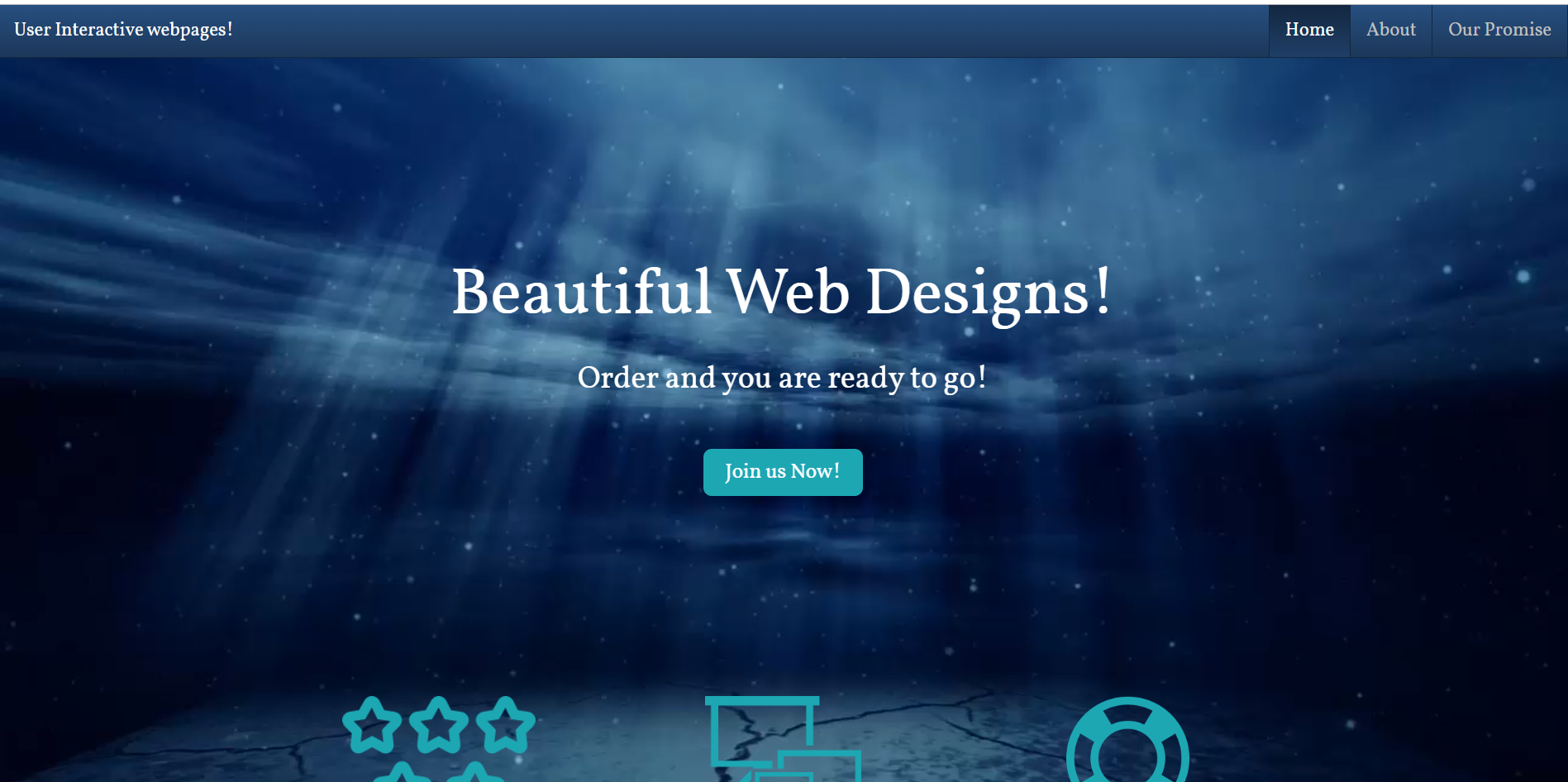 I will create user interactive front end website for you