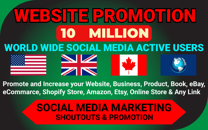 I will promote and advertise your website,  business,  blog or any link on social media