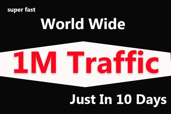 1000000 1M Super Fast World Wide Website Traffic