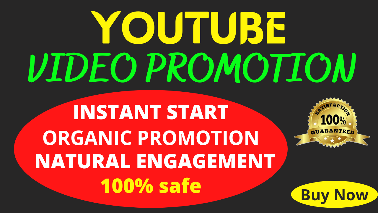 Safe organic youtube video promotion for your video