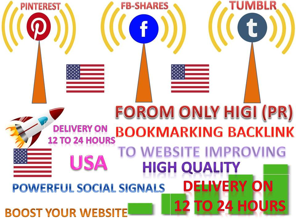 GET 15K SEO MIXED TOP 3 PINTEREST, WEB, TUMBLR SOCIAL SIGNALS FROM BACKLINKS TO WEBSITE IMPROVING