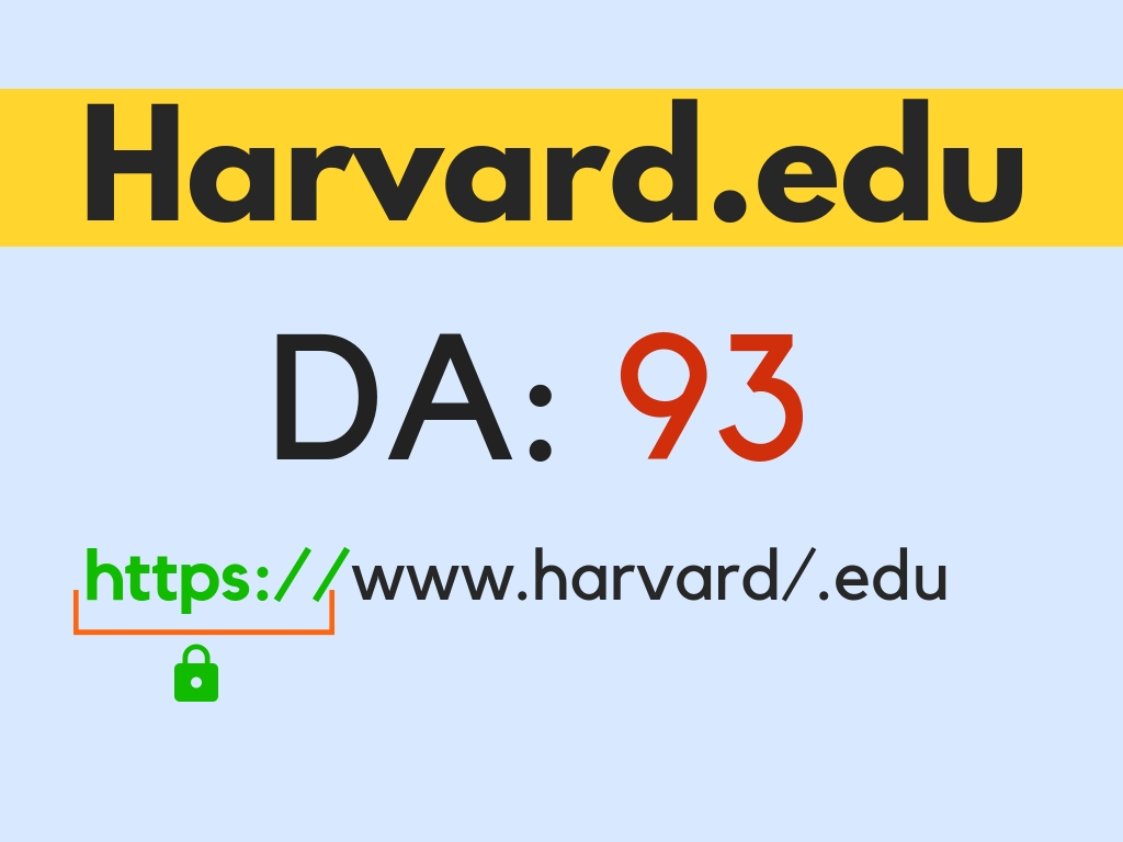 I will do 2 Harvard. Edu DA90 links dofollow backlinks plus 8 bonus da 40+ edu backlinks