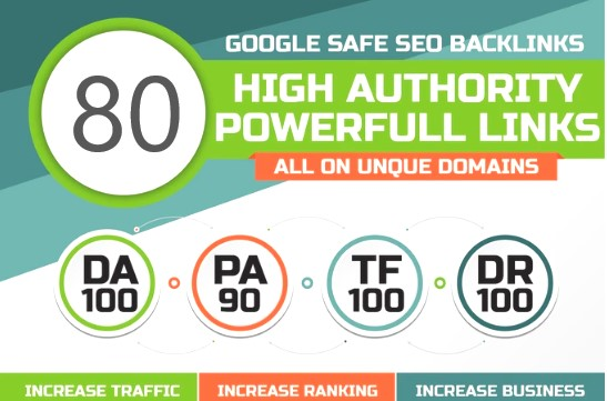 I will do 80. Edu DA100 links building high authority dofollow SEO backlinks service