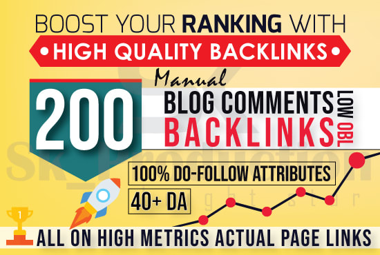 do 200 high pa da blog comments backlinks manually