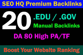 20 unique high PR backlinks on DA40plus sites