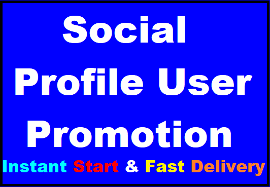 Social Profile Follow High Quality Promotion With Non Drop Guaranteed