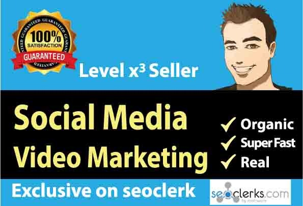 Social Media Video Marketing Promotion from Trusted Seller, All Natural