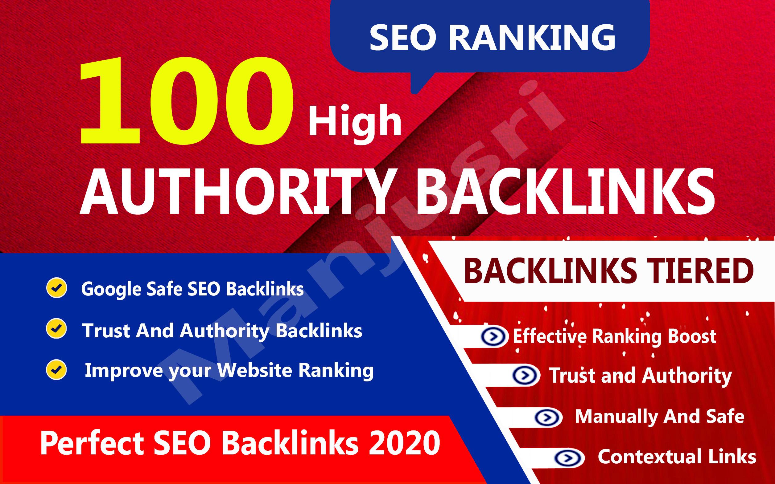Rank your website on google,  100 high authority backlinks