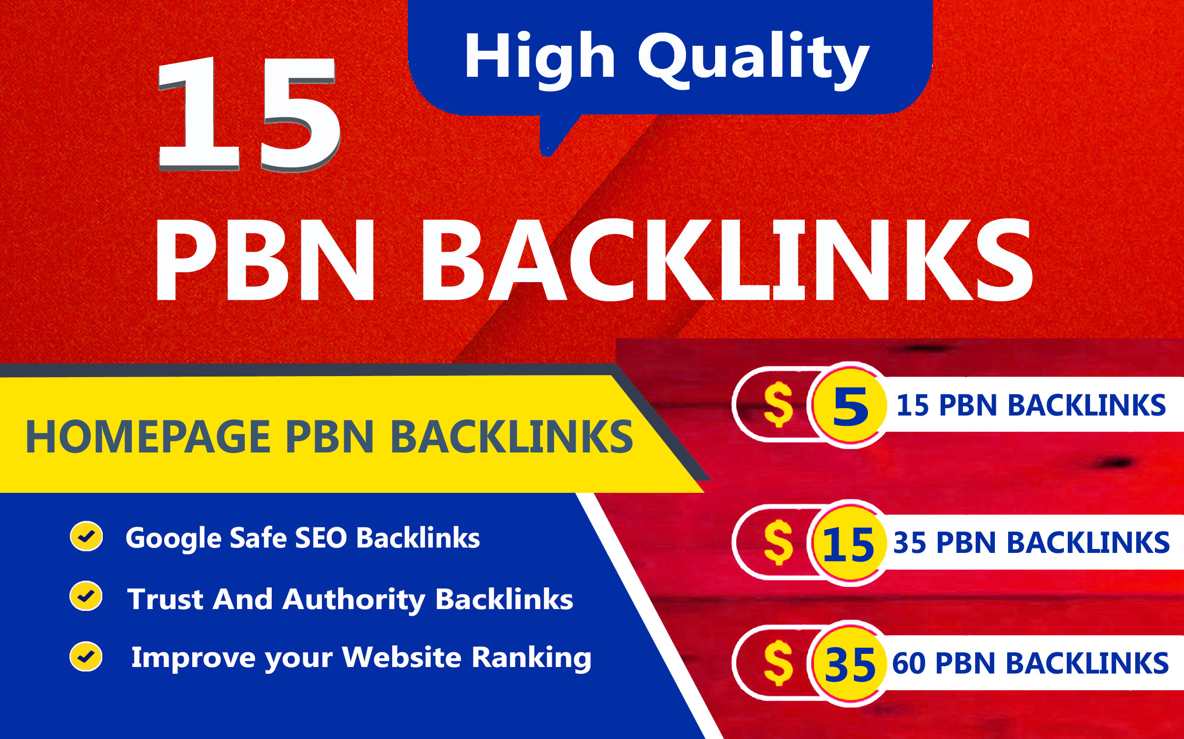 Build 15 High TF CF DA PA Homepage PBN Backlinks,  Dofollow links