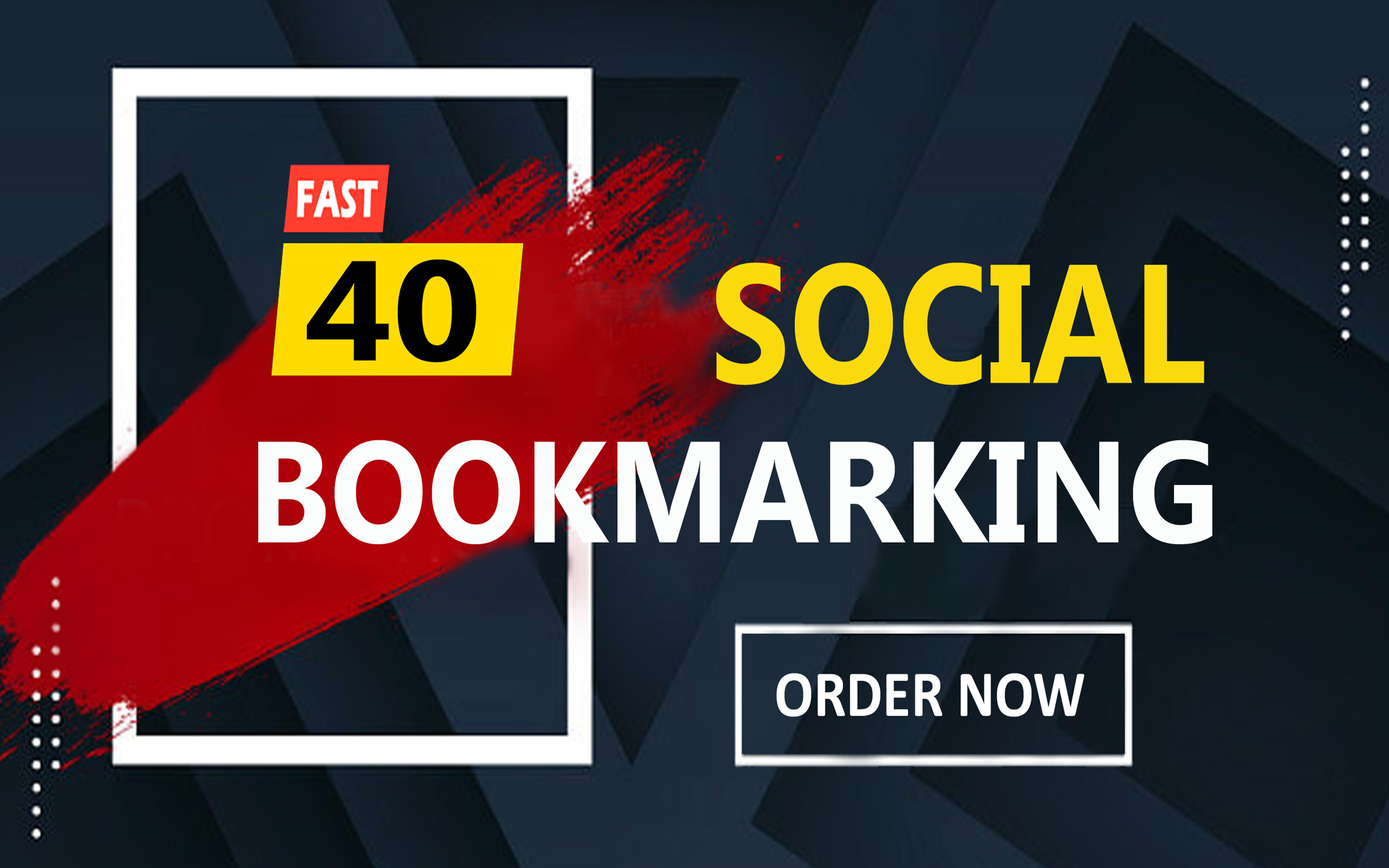 Manually Create 40 Permanent Social Bookmarks Backlinks high PR sites