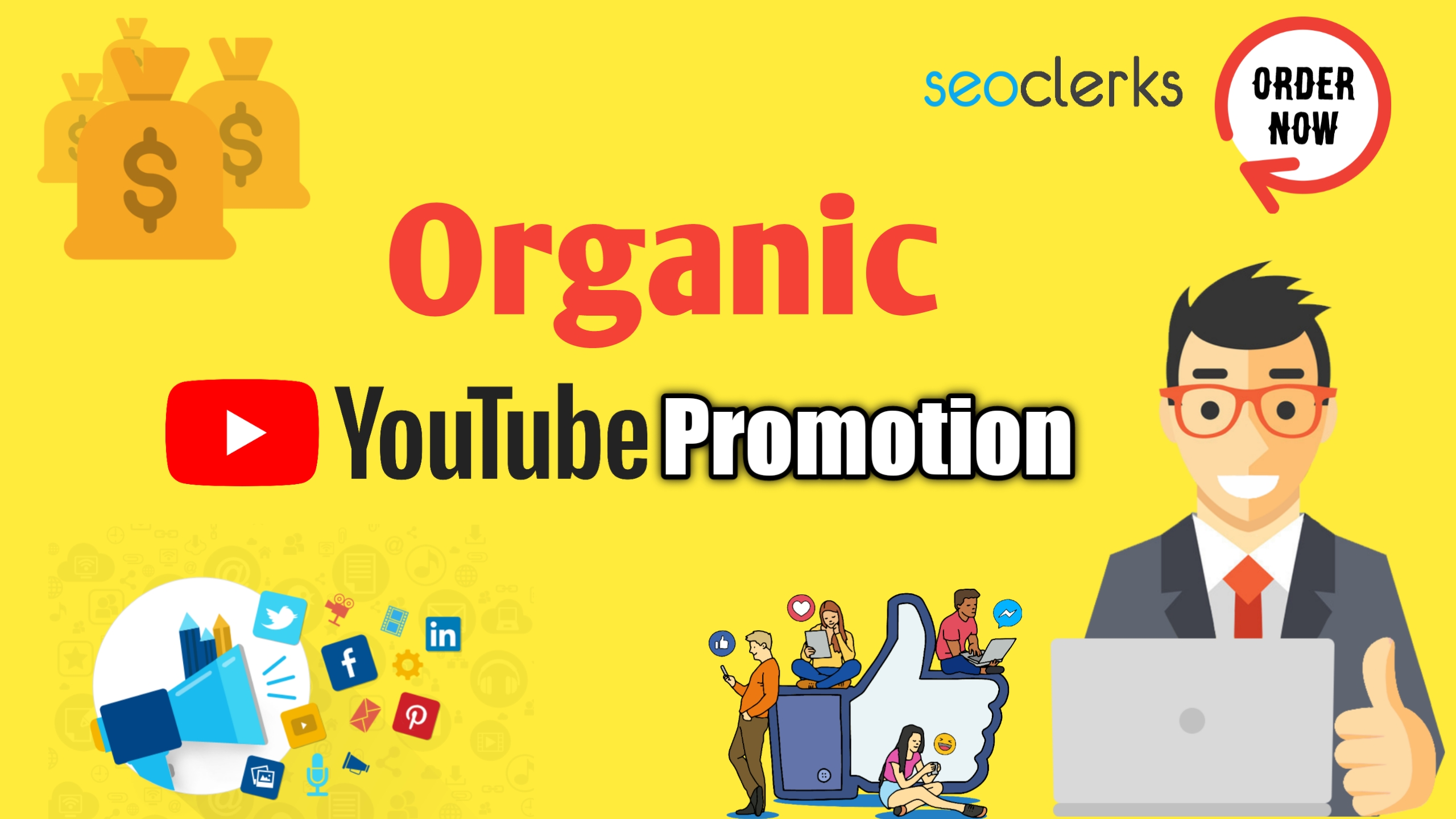 i will do organic youtube video promotion to go viral